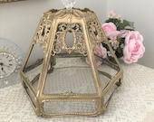 Beautiful Salvaged Ornate Victorian Slag Glass Lamp Shade