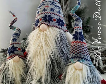 Nordic Gnome Scandinavian Gnome Tomte Nisse Santa Elf Troll decoration  DaVinciDollDesigns Christmas Collection©