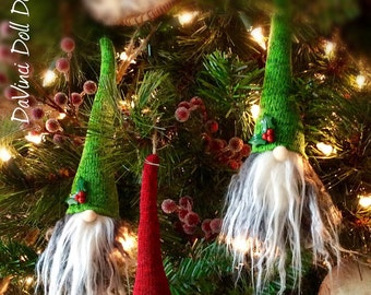 Tomte Nisse Gnome Scandinavian Christmas Hanging Ornaments Set of 3!  DaVinciDollDesigns Christmas Collection©