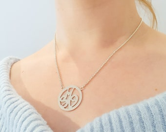 Each is a unique * Handmade name chain from 925 sterling silver insertal chain name pendant inital chain