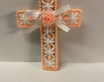 Plastic Canvas Easter Cross Magnet