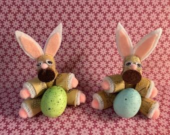 Wine Cork Easter Bunny