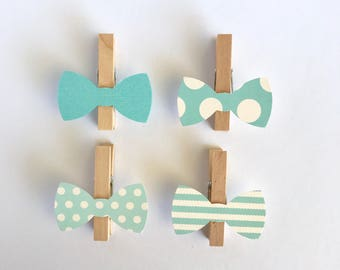 More Colors Dont Say Baby Clothespins Blue Bow Ties Shower Decoration