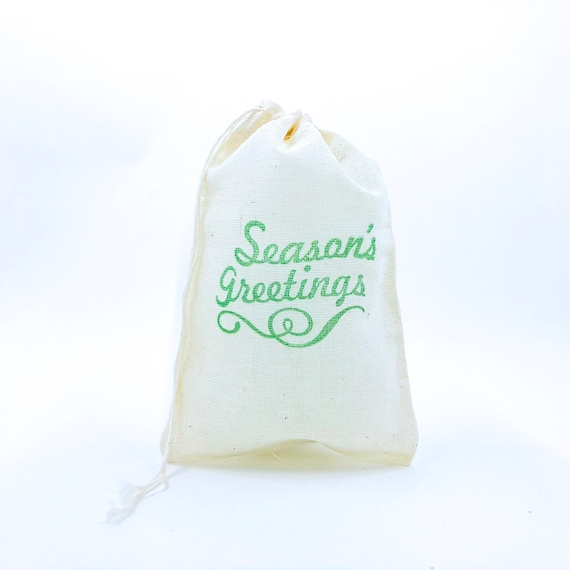 Christmas Stocking Party Bags Candy Goodie Favor Bags Stocking Stuffer Gift Wrap Holidays Cloth Muslin Bag Gift Exchange Advent Soap