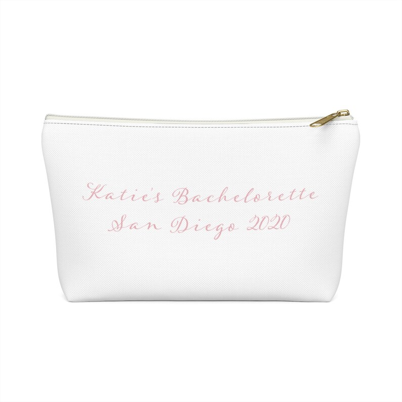 Custom Bachelorette Party Accessory Pouch Bag Personalized image 0