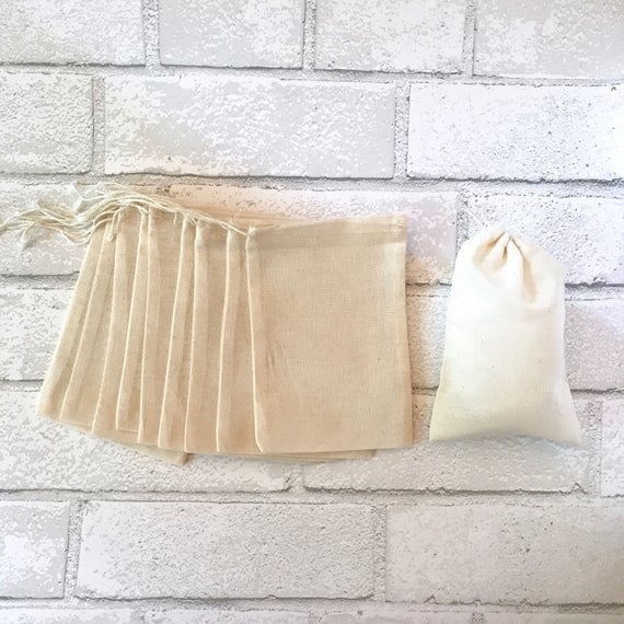 Muslin Drawstring Bags 50  4x6  PRIORITY SHIPPING Cotton bags wedding bags shower bags gift bags packaging blank cotton bags blank muslin