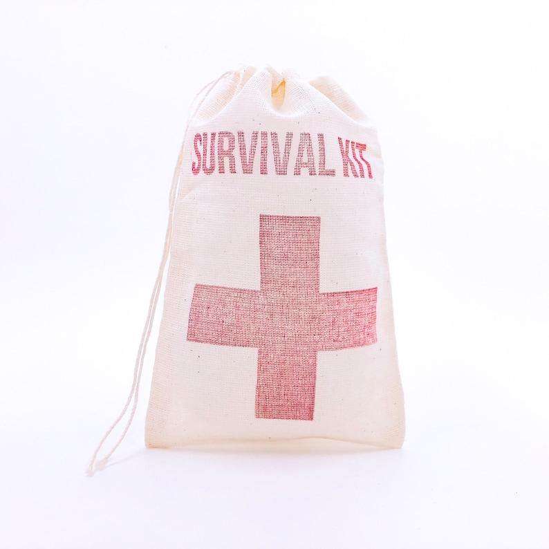 Survival Kit with Cross Bags  Bachelorette Favor Bags image 0