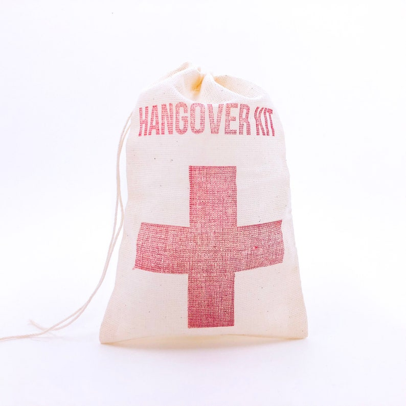 Hangover Kit with Cross Bags  Bachelorette Favor Bag Hangover image 0