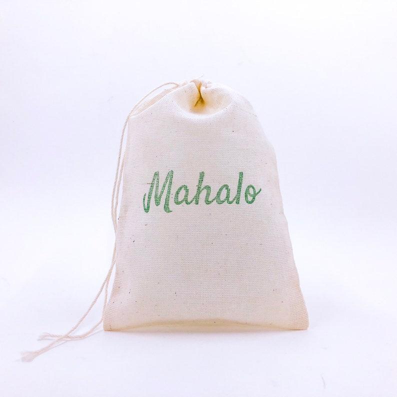 Mahalo Favor Bags Nautical Party Bag Beach Wedding Welcome image 0