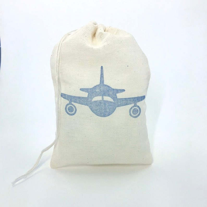 Airplane Party Bags Aviation Baby Shower Pilot Retirement Navy