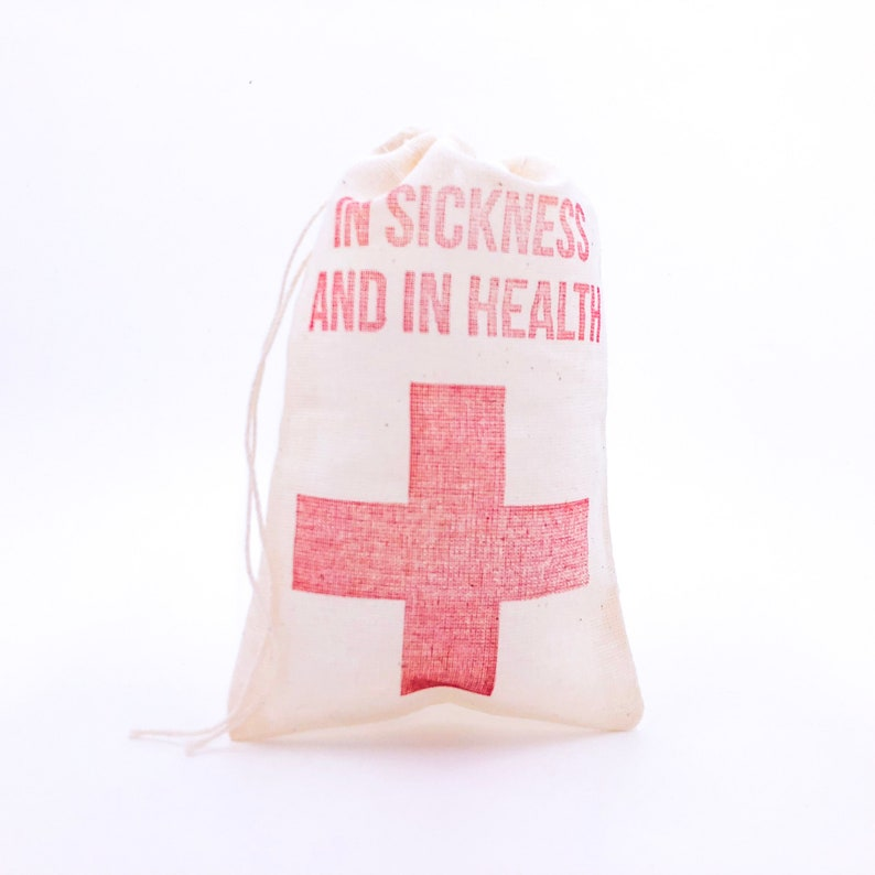 In Sickness and in Health Cross Bags  Bachelorette Favor Bags image 0