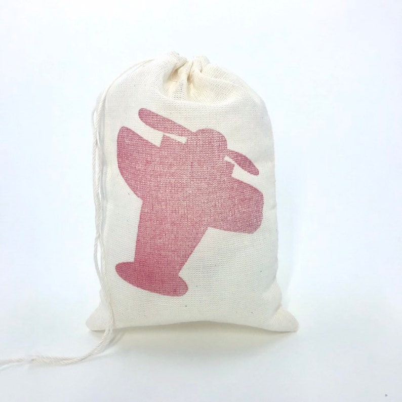 Airplane Favor Bags Aviation Baby Shower Pilot Retirement Red