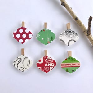 Fox Clothespins Christmas Decoration Paper Cutouts Kit Holiday Card Holder Hanger Garland banner Gift Wrapping Clothes Pins Clips Gift Wrap