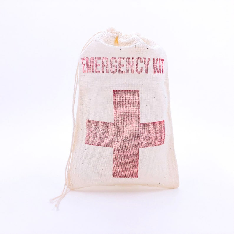 Emergency Kit with Cross Bags Bachelorette Favor Bags Hangover image 0