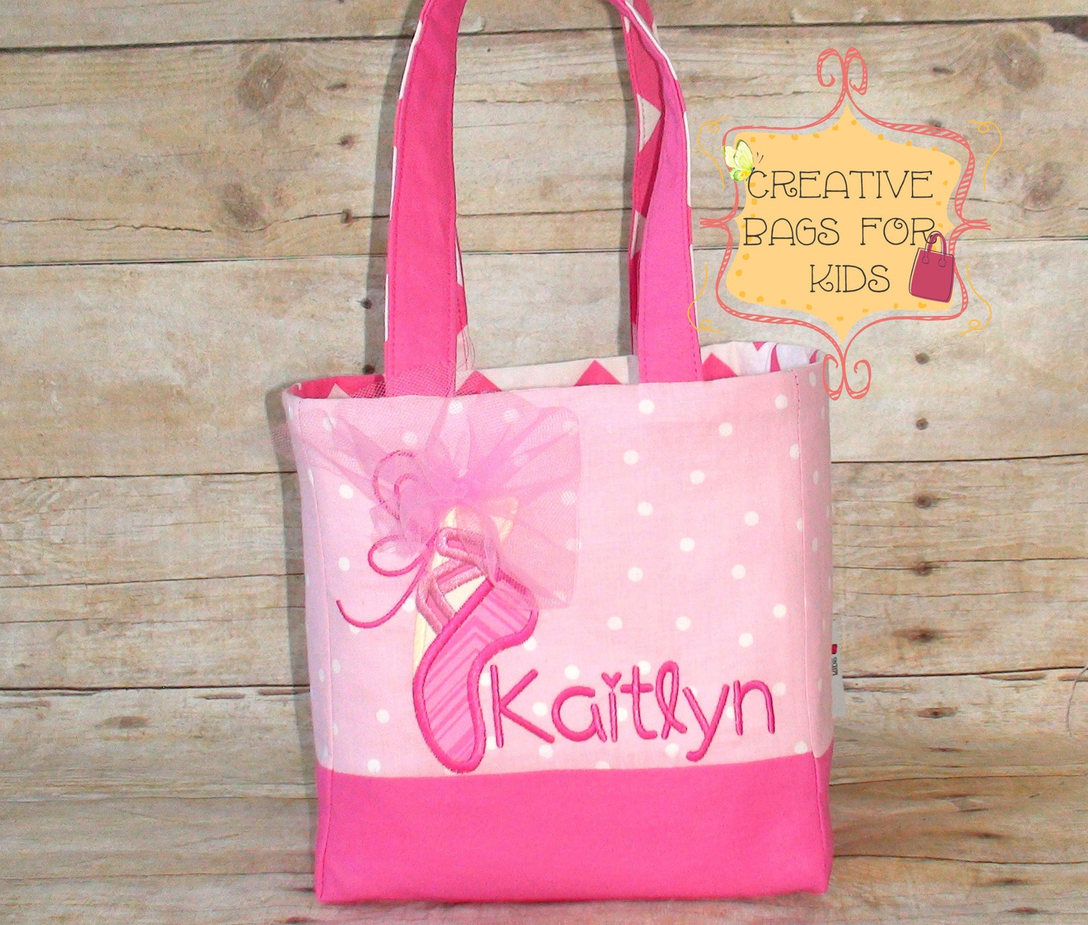 ballet bag/ ballet tote bag/ ballerina lunch bag/ personalized ballet bag/ girls purse/ girls dance bag