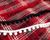 Made to Order Plaid Sew Lush blanket with without pom poms