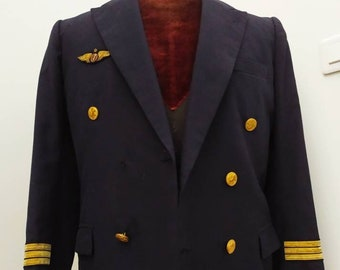 Rare Stunning Vintage French Pilot Jacket, Fancy Dress Party, Film Costume, Village People, Dry Cleaned