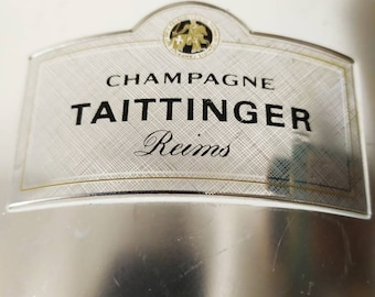 Vintage French Taittinger Champagne  Ice Bucket, French Chic, Tabletop, and Accessories, French Champagne, Festive Dining