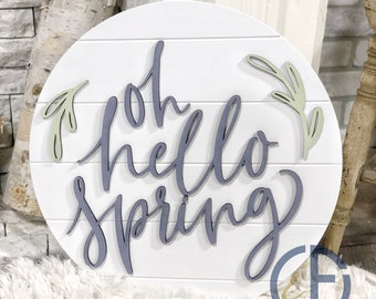 """Oh Hello Spring Sign 