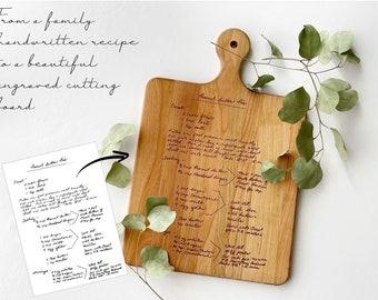 Personalized Cutting Board | Handwritten Family Recipe Engraved | Engraved Cutting Board | Recipe Cutting Board | Mothers Day | Wedding