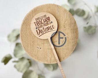 Dedicated Teacher Bouquet Marker | Teacher Gift | End of Year Gift | Flower Sign | Plant Marker | Bouquet Sign