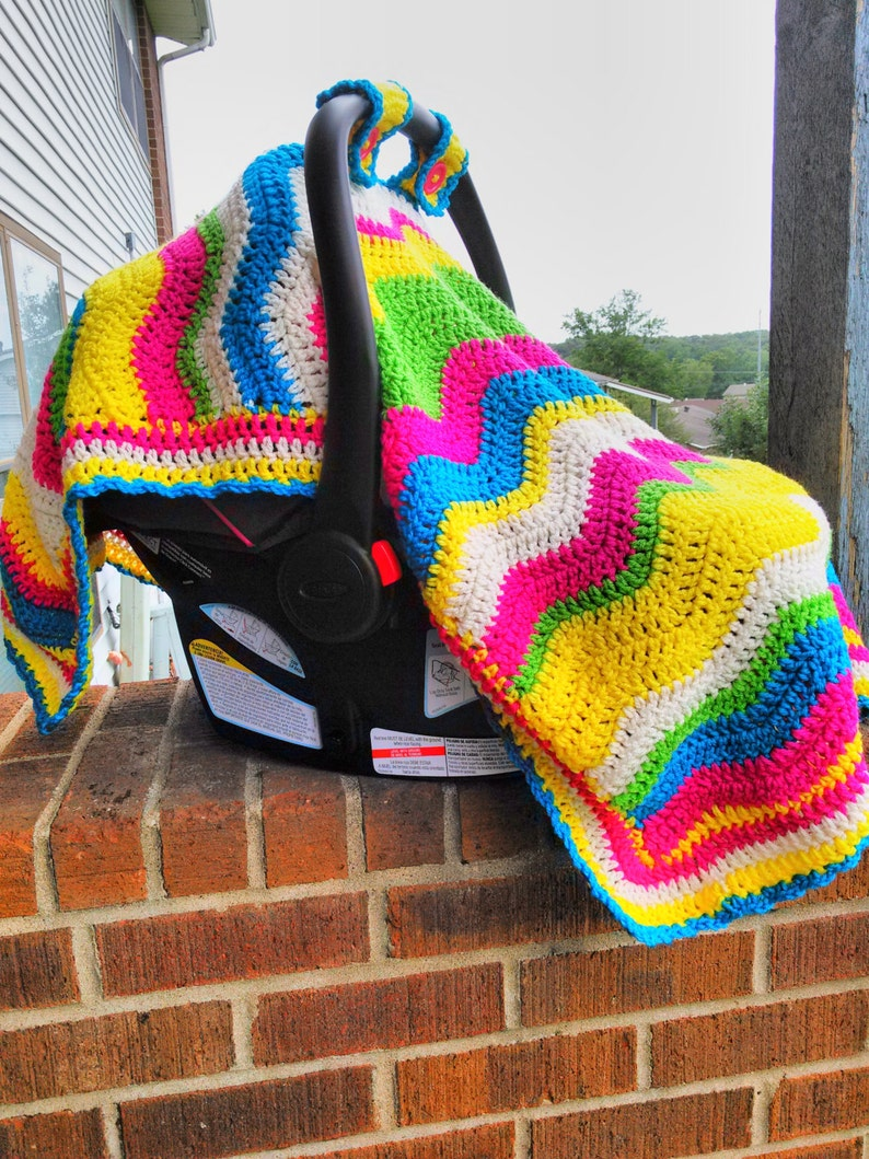 Crochet Baby Car Seat Cover Baby Carriers Baby Cover Baby Cheveron Carrier Cover Baby Canopy Baby Cooler