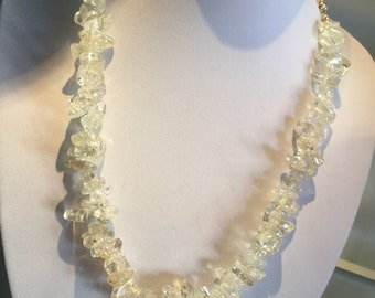 Ice Flake Quartz  Statement necklace #races #wedding # bride #love