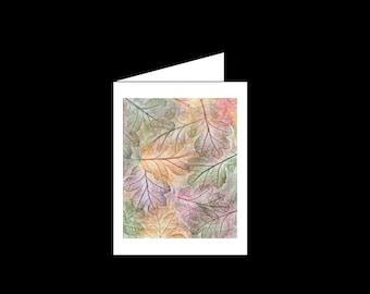Greeting card - Autumn Oak Leaves