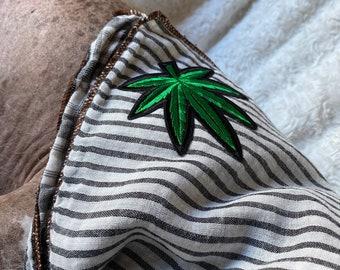 Weed Dog Bandana Cute Weed Accessories for Girly Stoner Dog Homegrown Tee Bandana Weed lover Gift Pot Leaf Dog Bandana Personalized