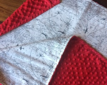 Map blanket etsy 25x35 vintage air traffic baby blanket gray airplane baby blanket vintage atlas baby blanket world map blanket aviation gumiabroncs Images
