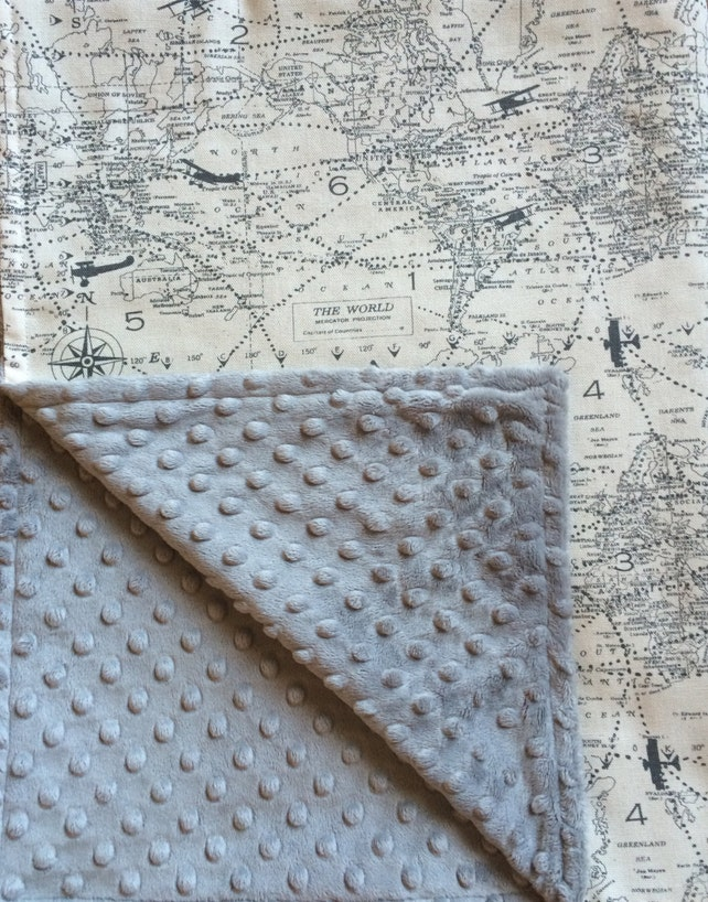 Air traffic baby blanket gray airplane blanket vintage etsy image 0 gumiabroncs Images