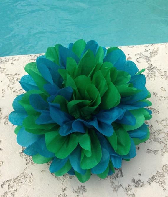 Peacock Wedding Ideas Etsy: Items Similar To PEACOCK / 1 Mix Tissue Paper Pom Pom