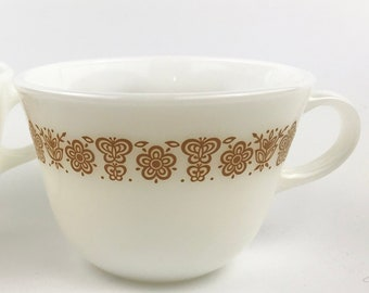 Pair Pyrex Tea Cups- Vintage Housewares