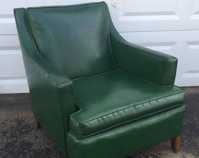 Mid-Century Lounge Chair in Hunter Green