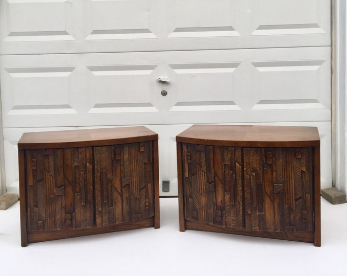 Pair Mid-Century Nightstands by Lane