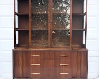 Mid-Century Modern Sideboard with China Cabinet