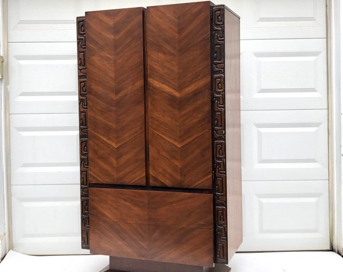 Tall Mid-Century Modern Witco Dresser by United Furniture