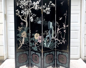 Decorative Asian Room Divider- Double Sided