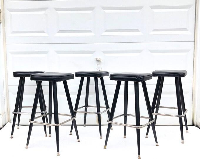 Set of Mid-Century Modern Barstools
