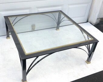 Mid-Century Style Chrome Coffee Table by Design Institute of America