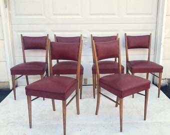 Mid-Century Dining Chairs- Set of Six