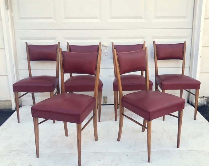 Featured listing image: Mid-Century Dining Chairs- Set of Six