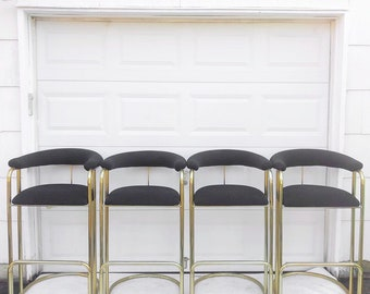 Vintage Modern Barstools- Set of Four
