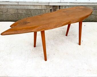 Vintage Live Edge Slab Coffee Table
