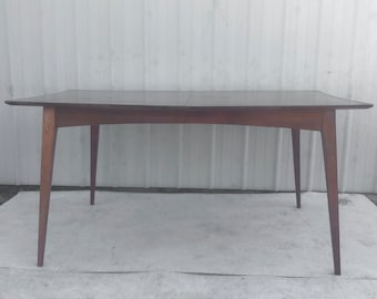 Mid-Century Modern Dining Table With Leaf