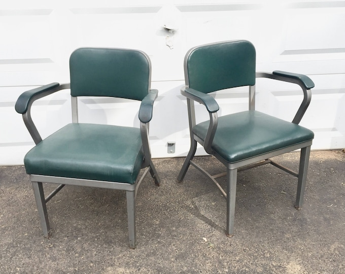 Pair Industrial Desk Chairs by Royal Manufacturing