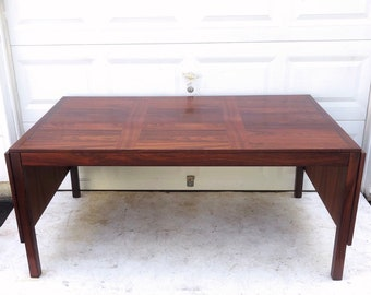 Danish Modern Rosewood Dining Table for Vejle Stole