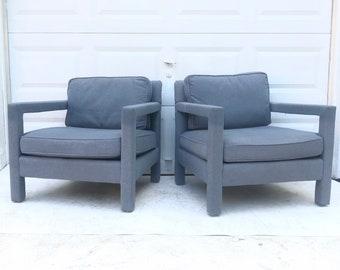 Pair Vintage Modern Armchairs by Bernhardt Furniture