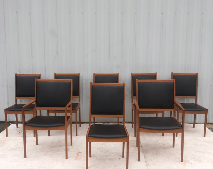 Featured listing image: Mid-Century Modern Teak Dining Chairs- Set Of 8