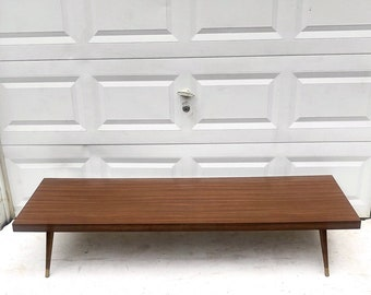 Mid-Century Modern Long Coffee Table